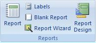 Report Wizard icon under the Create Tab